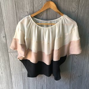Loft Color Block Blouse
